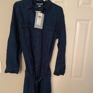 NWT Coldwater Creek dark denim dress with belt